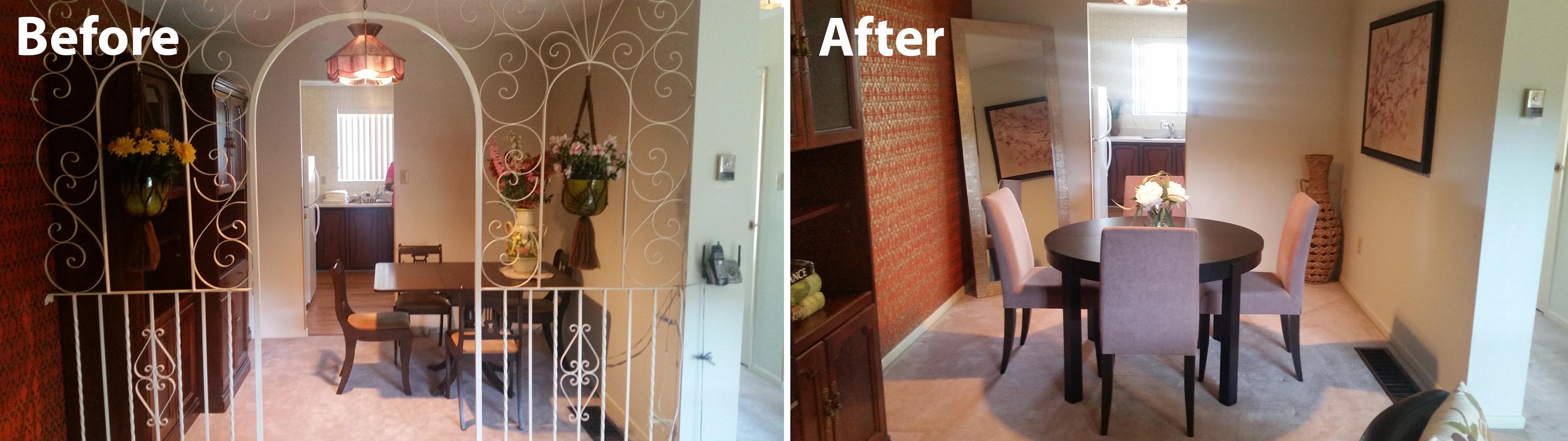 home staging: dining room & living room