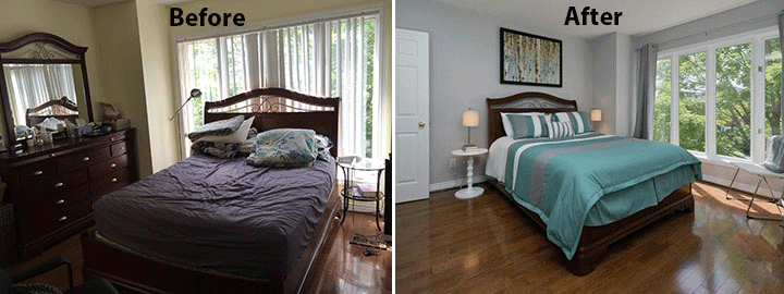 home staging before and after photo