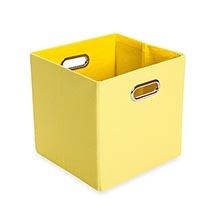Canvas storage bin