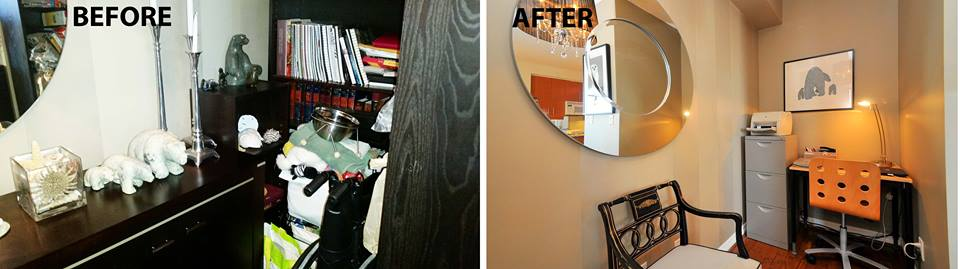 Before and after photo of Den
