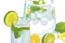 Cold water with mint