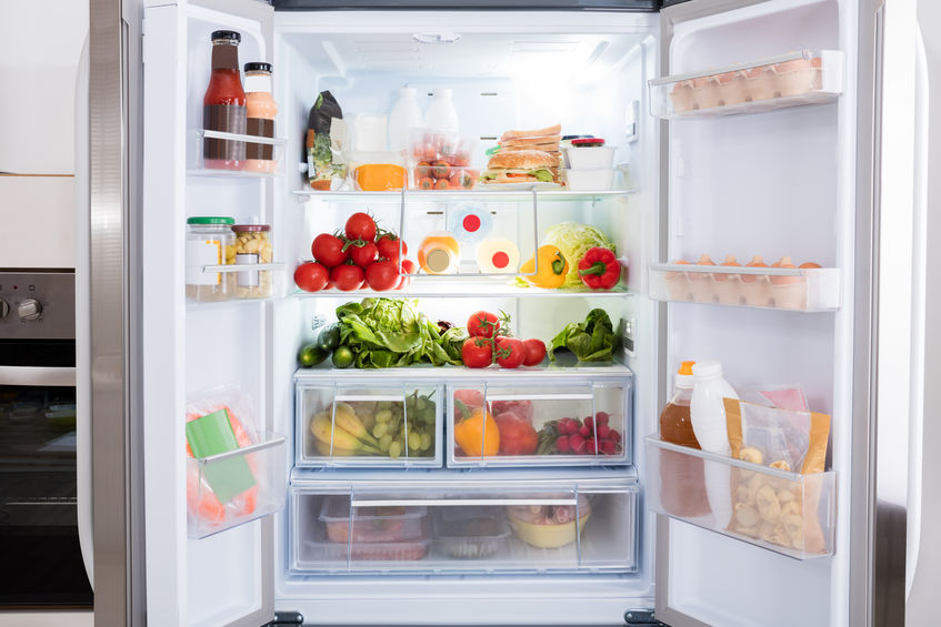 well organized fridge
