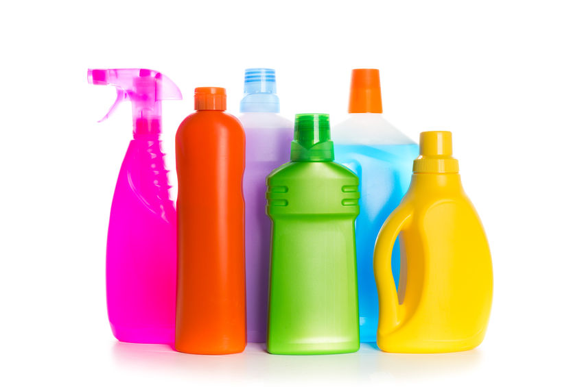 use a bleach cleaner to kill viruses and bacteria on your home's surfaces
